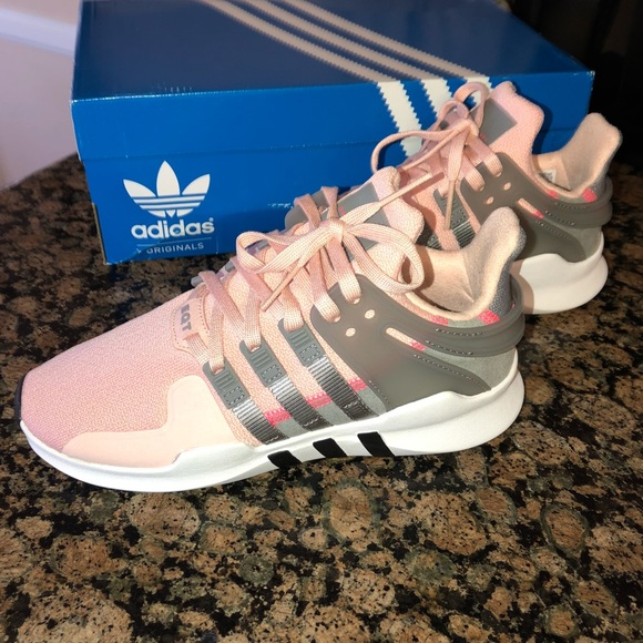 NEW Adidas EQT Support ADV Pink & Grey Shoes SZ 5